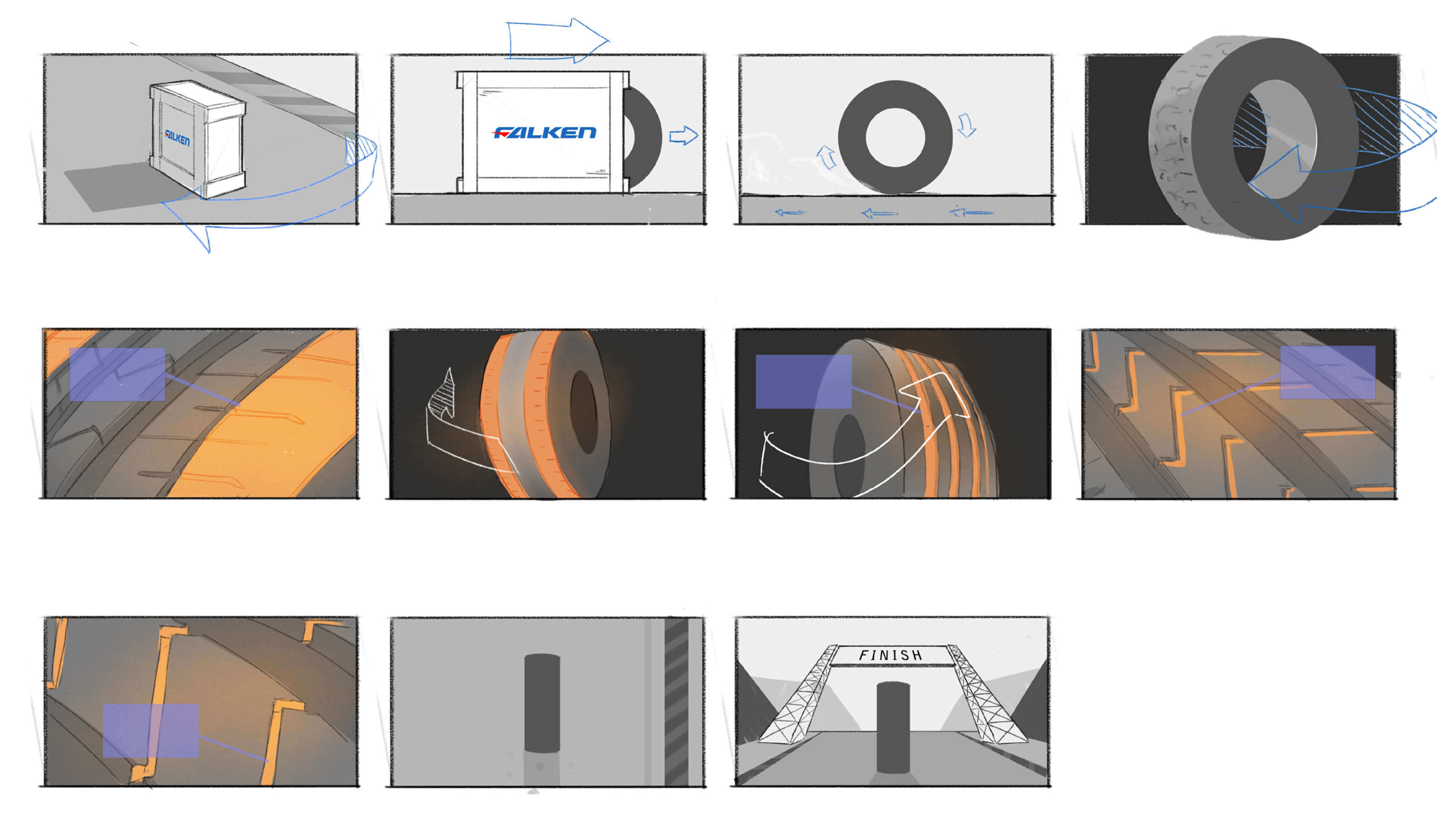MarkMade Motion Design Storyboard for Product Launch